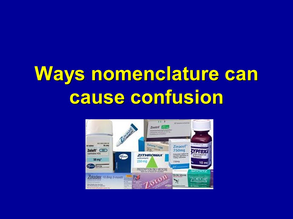 Ways nomenclature can cause confusion