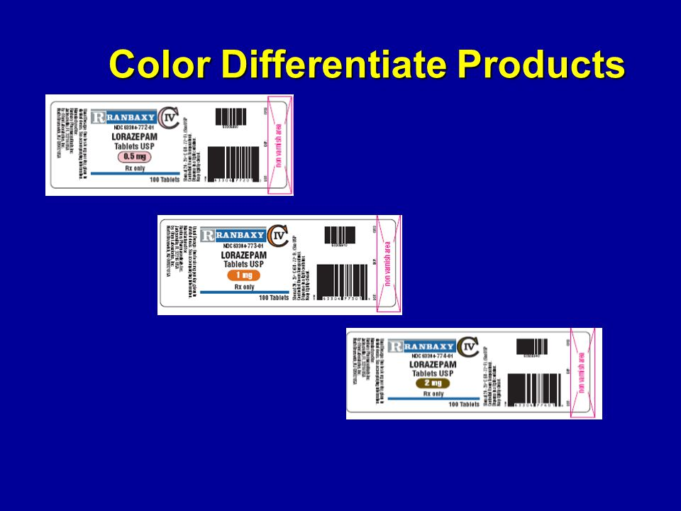 Color Differentiate Products