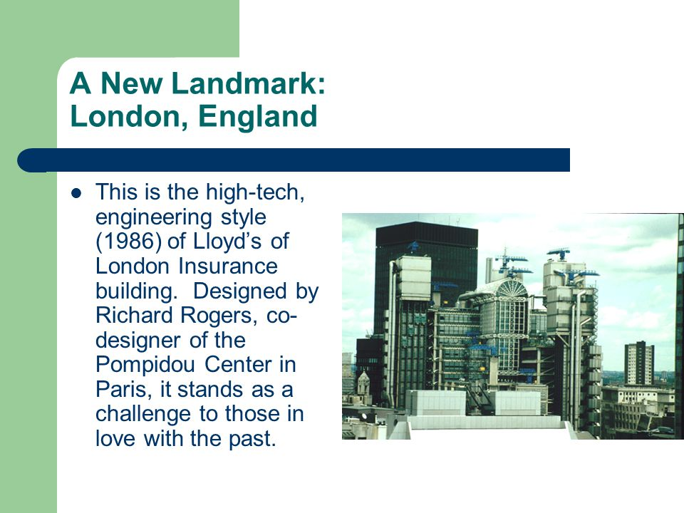 This is the high-tech, engineering style (1986) of Lloyd's of London Insurance building.