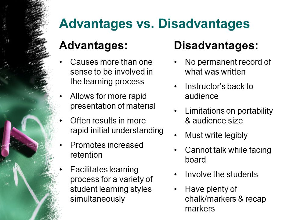 Advantages vs.