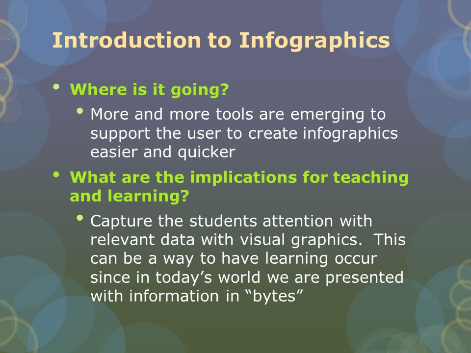Introduction to Infographics Where is it going.