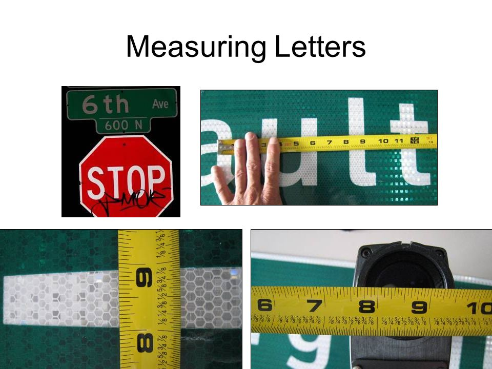 116 Measuring Letters