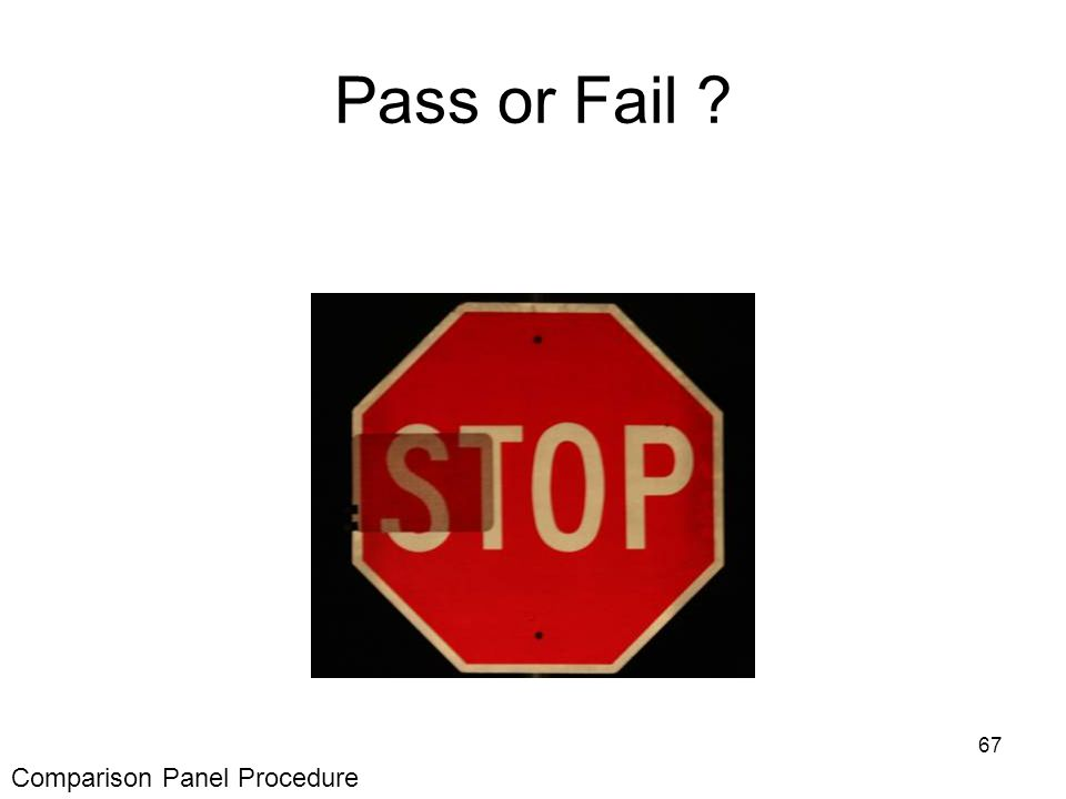 67 Pass or Fail Comparison Panel Procedure