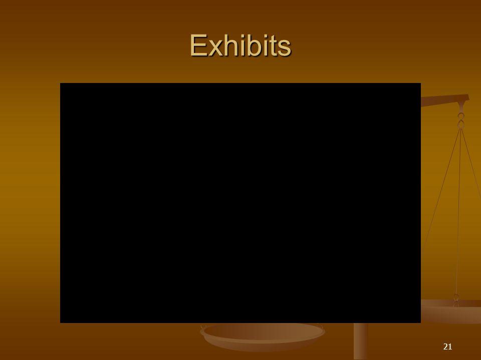 Exhibits 21