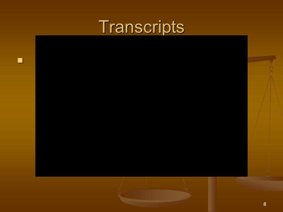 Transcripts 8