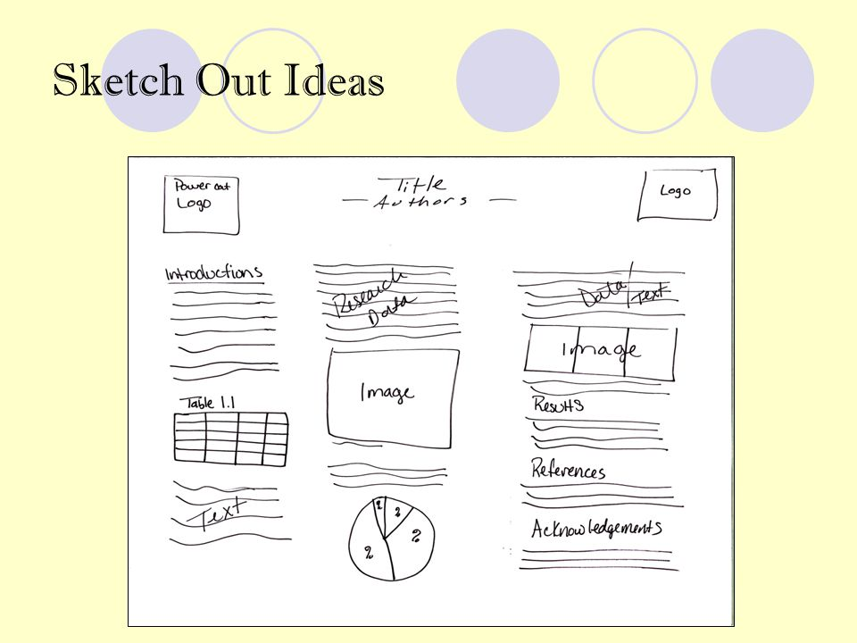 Sketch Out Ideas