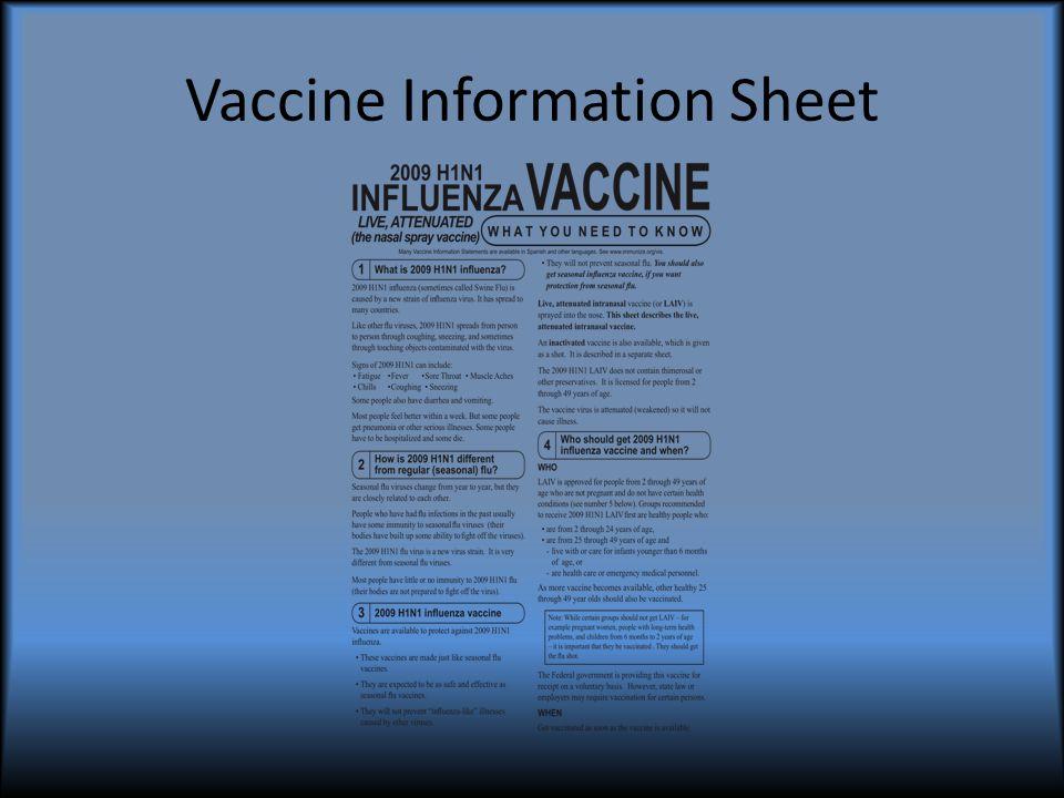 Vaccine Information Sheet