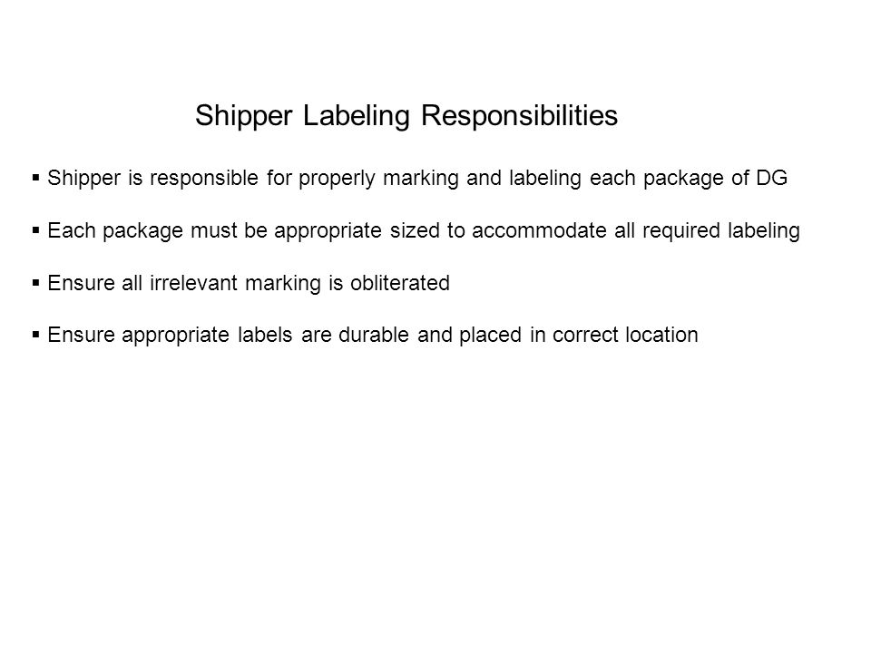 Shipper and Consignee Address labels Where to place if there is not room on the same side