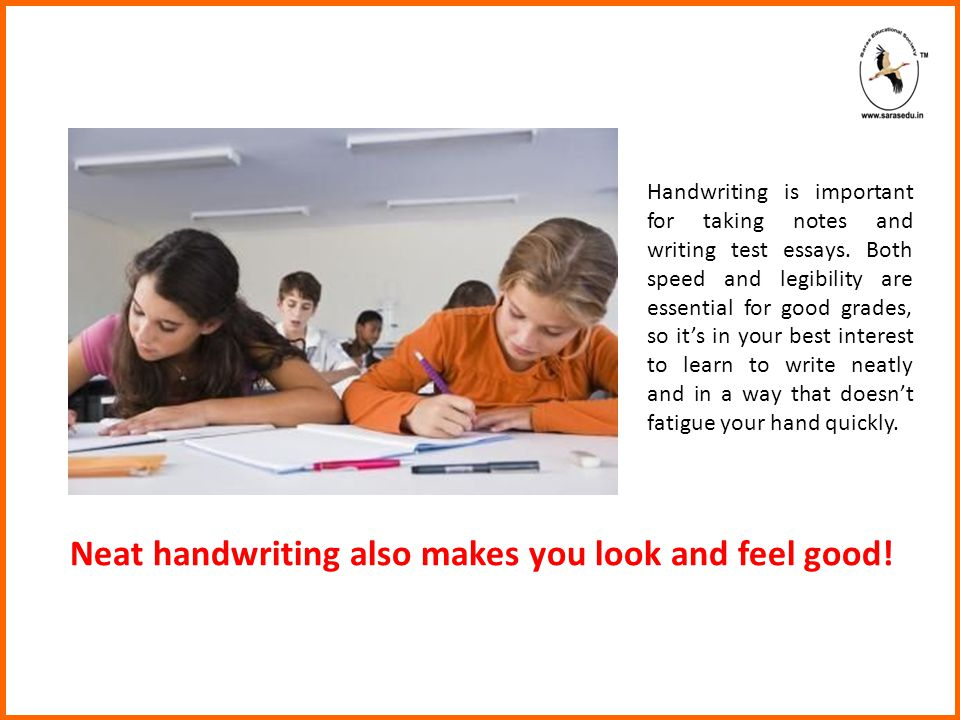 Handwriting is important for taking notes and writing test essays.