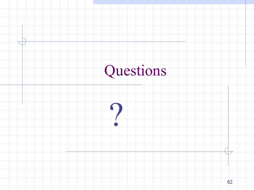 62 Questions ?