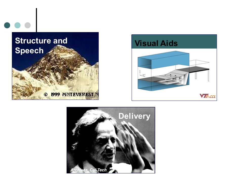 Structure and Speech Delivery Archives, Cal-Tech Visual Aids