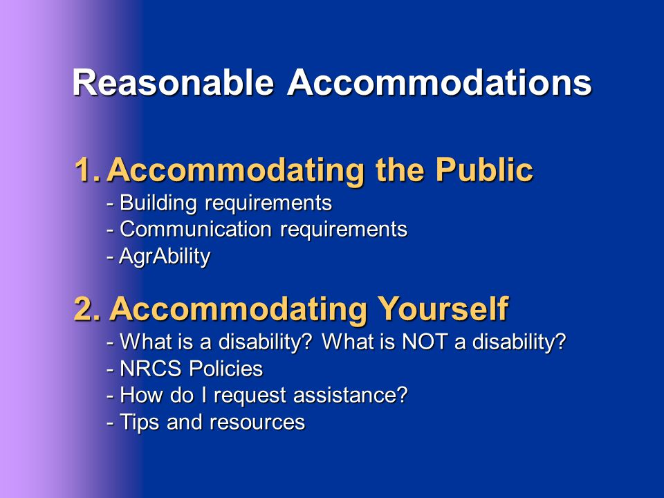 Accommodating the Public Building Requirements