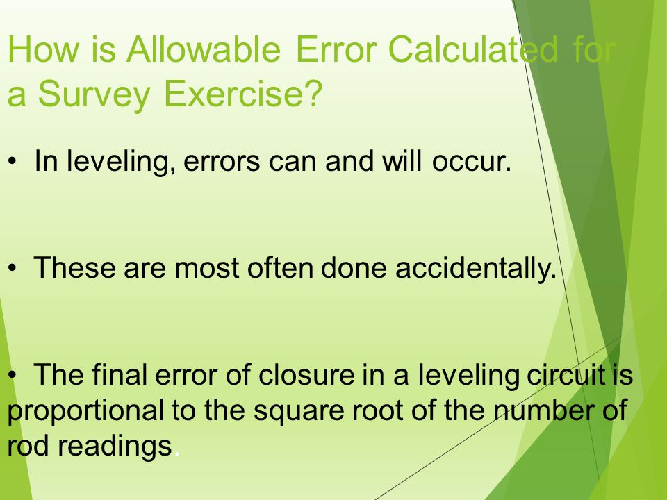 How is Allowable Error Calculated for a Survey Exercise.