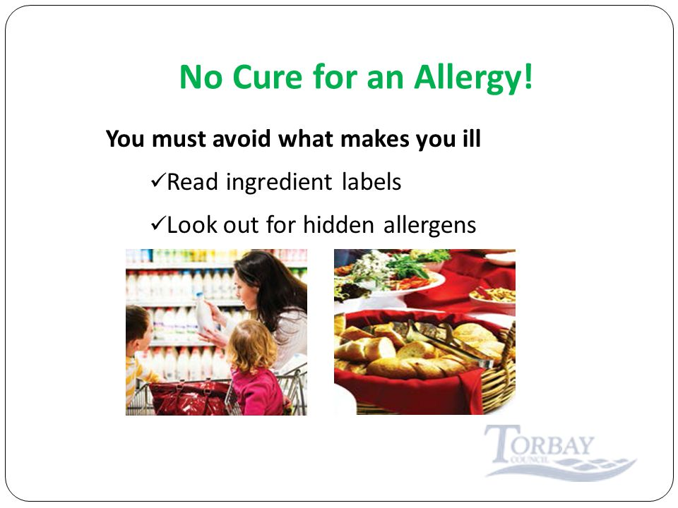 No Cure for an Allergy.