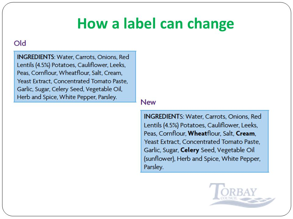 How a label can change