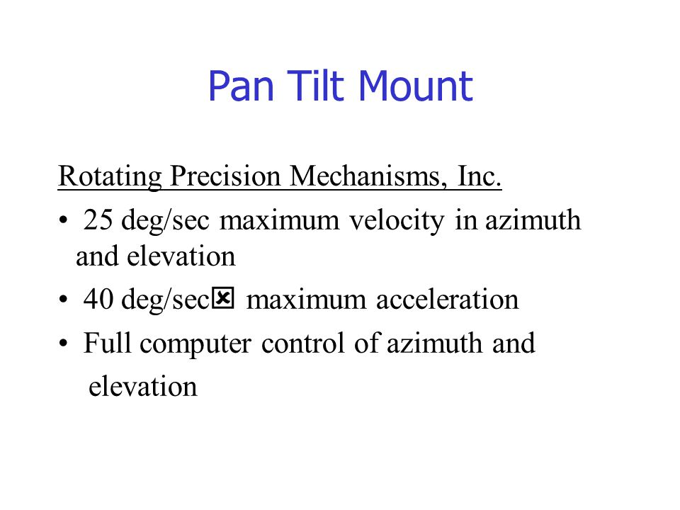 Pan Tilt Mount Rotating Precision Mechanisms, Inc.