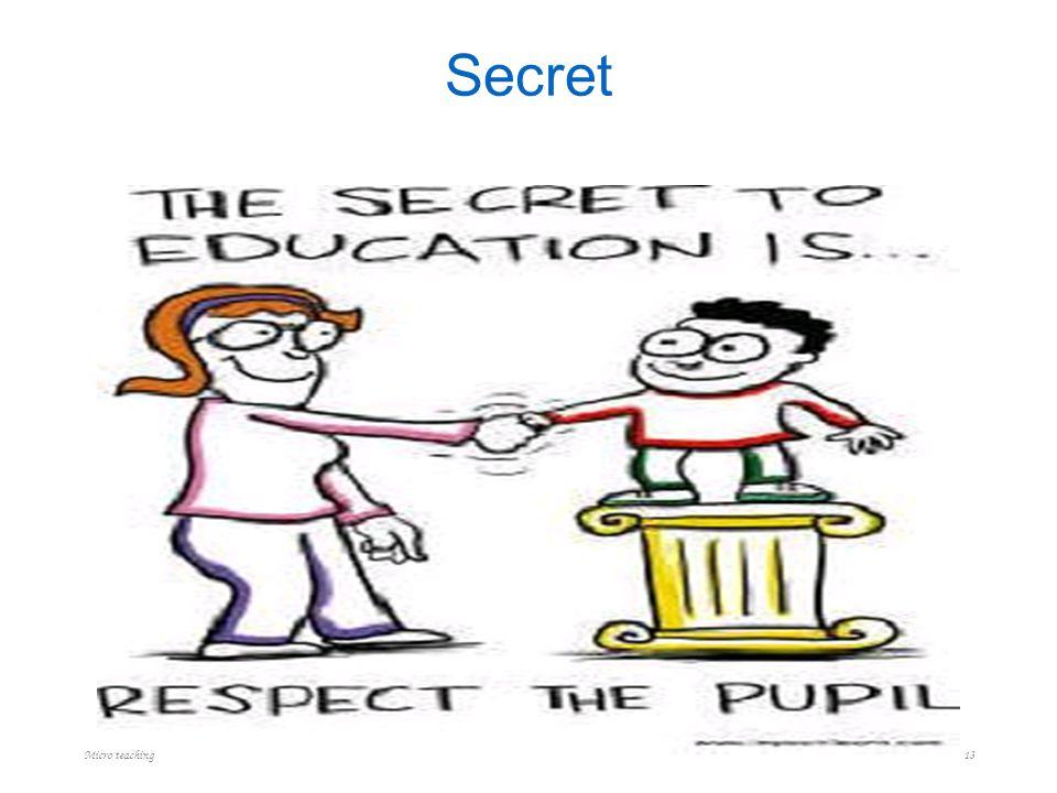 Secret Micro teaching 13