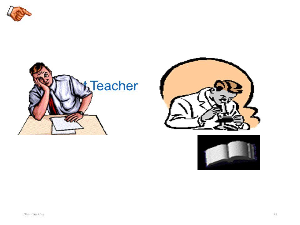 Present Teacher Expected Teacher Micro teaching 15