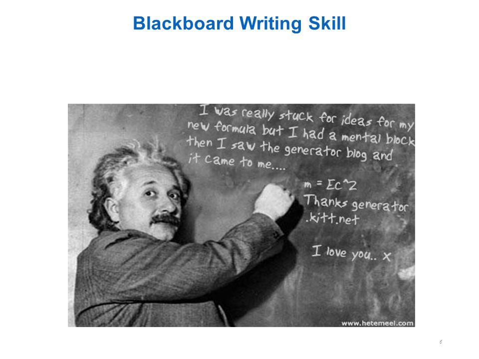 Blackboard Writing Skill 6