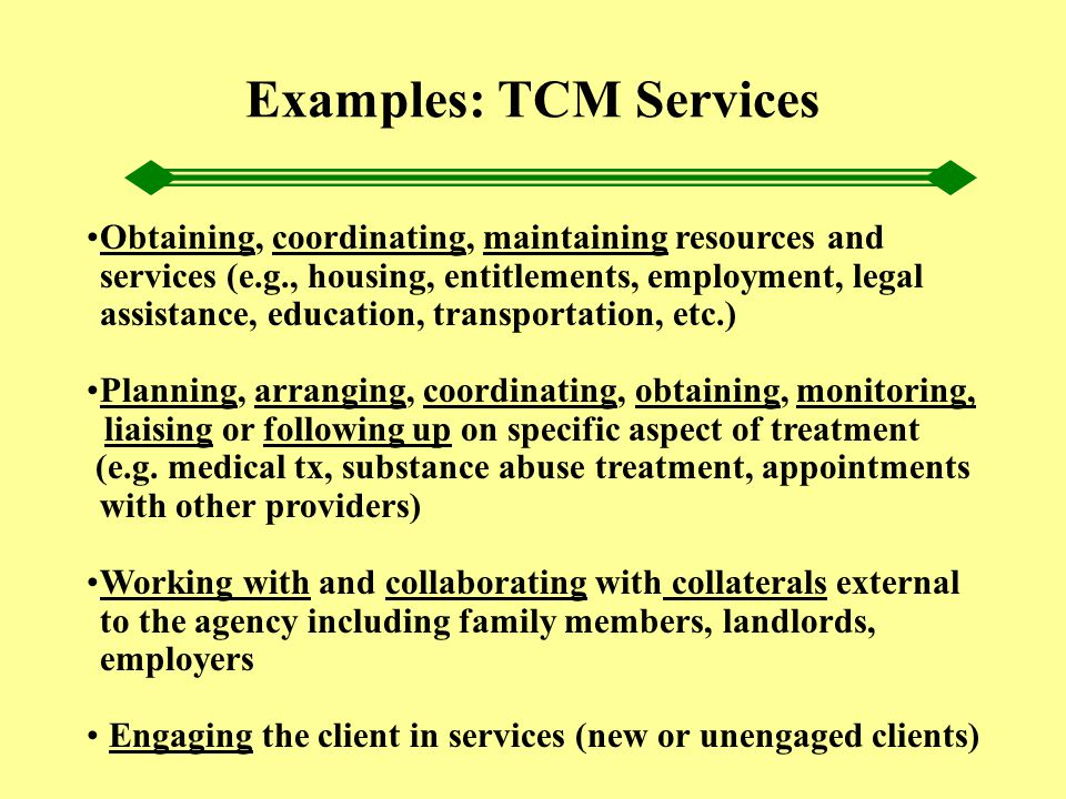 Obtaining, coordinating, maintaining resources and services (e.g., housing, entitlements, employment, legal assistance, education, transportation, etc