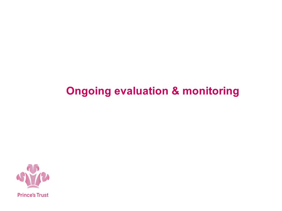 Ongoing evaluation & monitoring