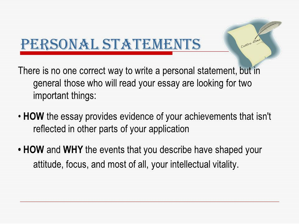 argumentation personal statements sat essays prepared by the  there is no one correct way to write a personal statement but in general those