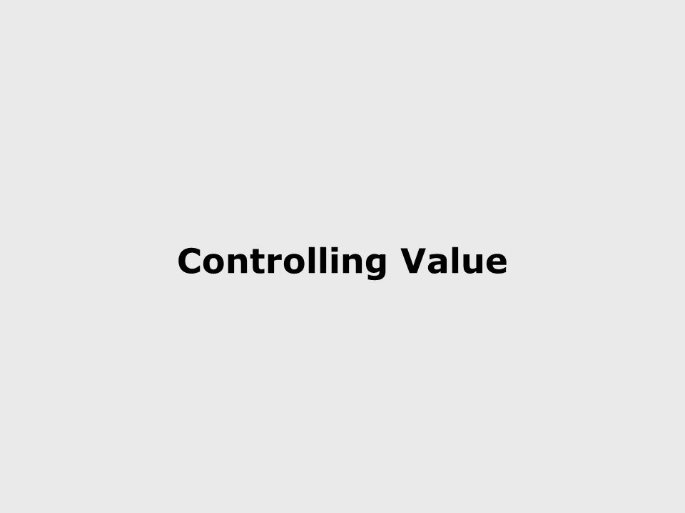Controlling Value