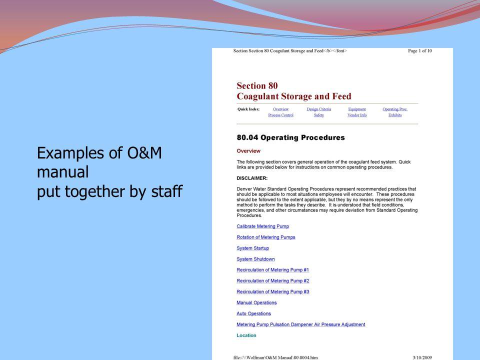 Web based O&M