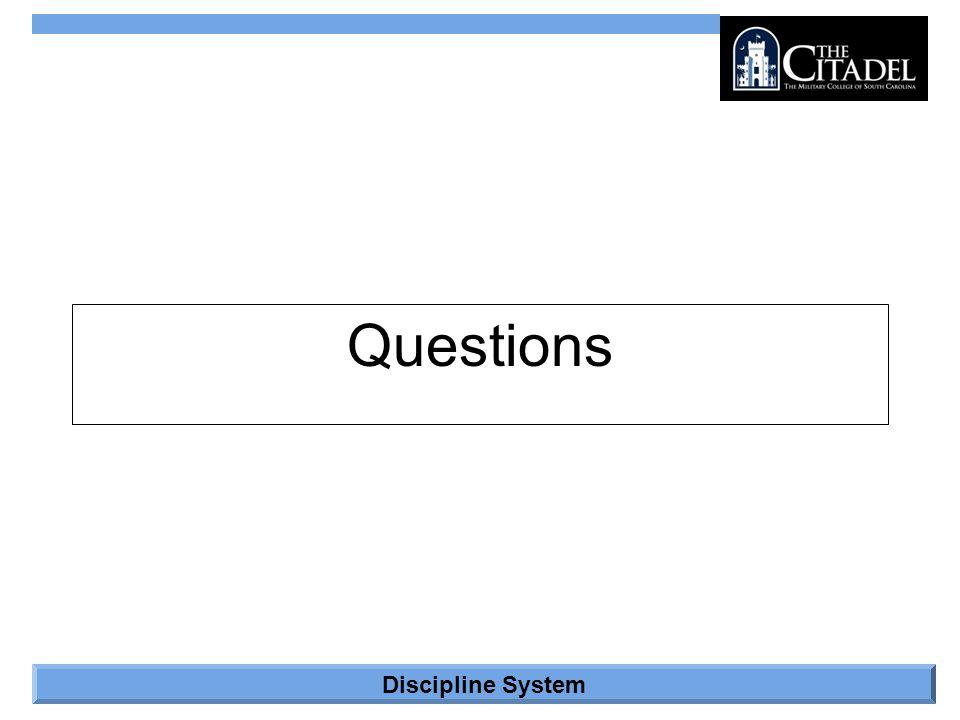 Discipline System Questions