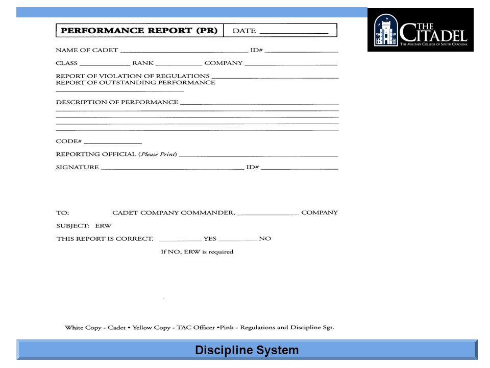 Discipline System