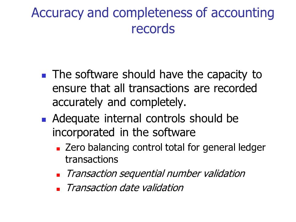 Sufficient details captured and produced The software should have the capacity to capture and produce sufficient detail to determine income and consumption taxes administered by the Agency.