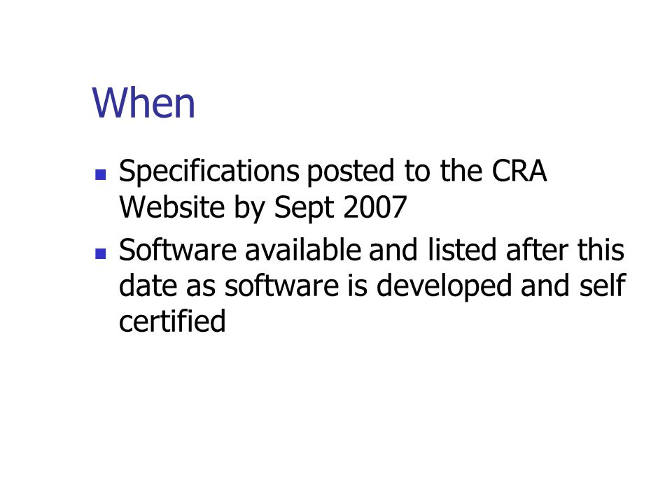 Software vendors One uniform requirement makes product marketable in many jurisdictions Public accountants Simplify assignments of preparing accountin