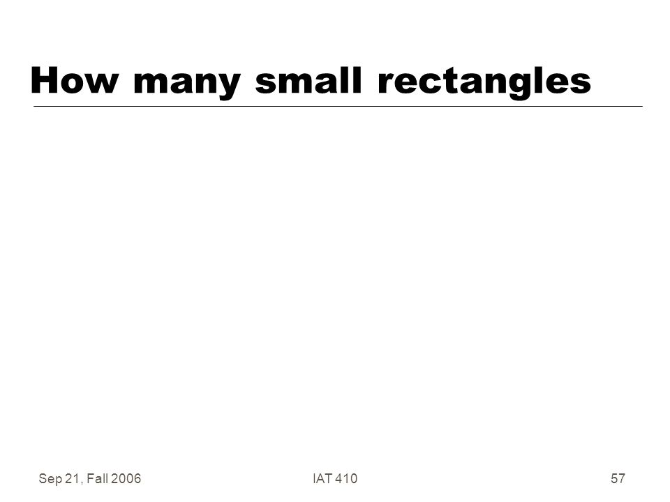 Sep 21, Fall 2006IAT 41057 How many small rectangles