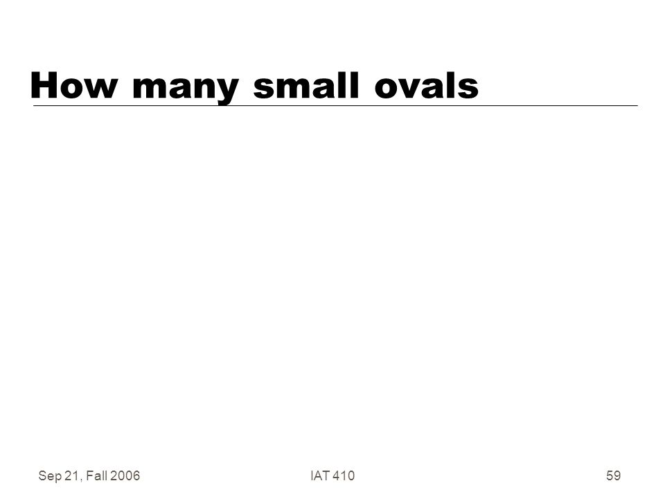 Sep 21, Fall 2006IAT 41059 How many small ovals