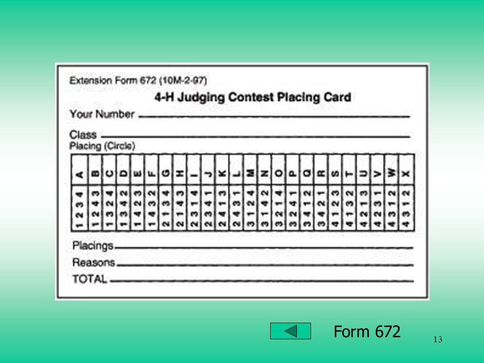 13 Form 672