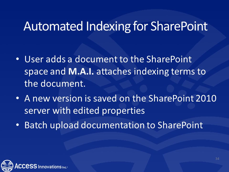 Incorporating Data Harmony into SharePoint Add an EventHandler to Document Library After a user uploads a file, EventHandler will send the file conten