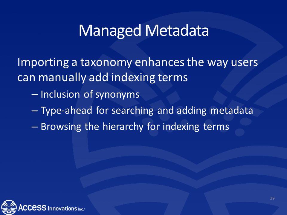 Create and name a Column for adding metadata.