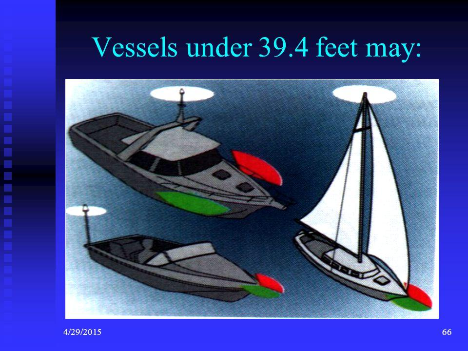 4/29/201565 Vessels under 65 feet