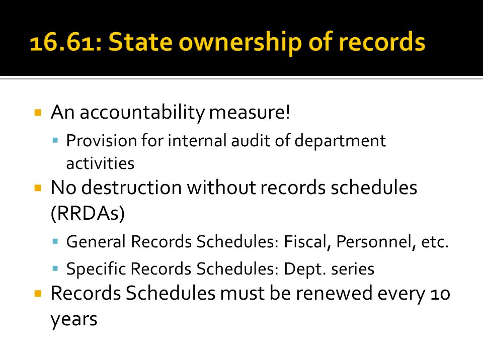  An accountability measure.