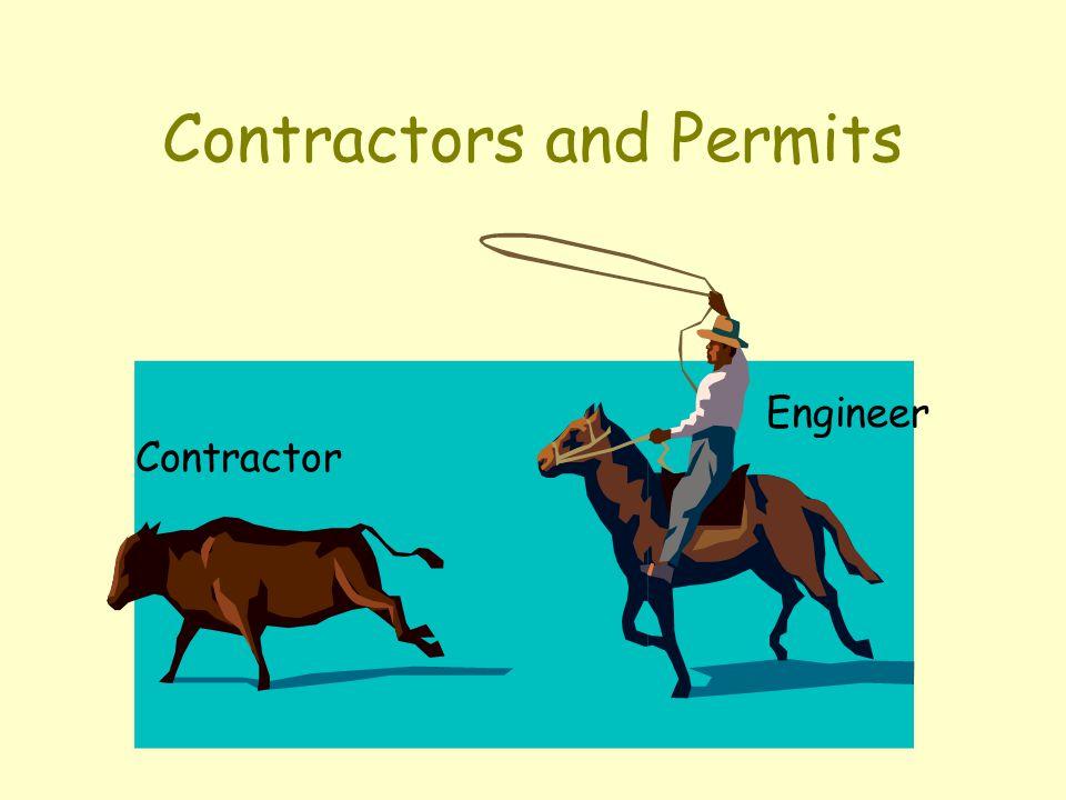 Contractors and Permits Contractor Engineer
