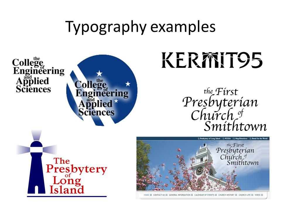 Typography examples