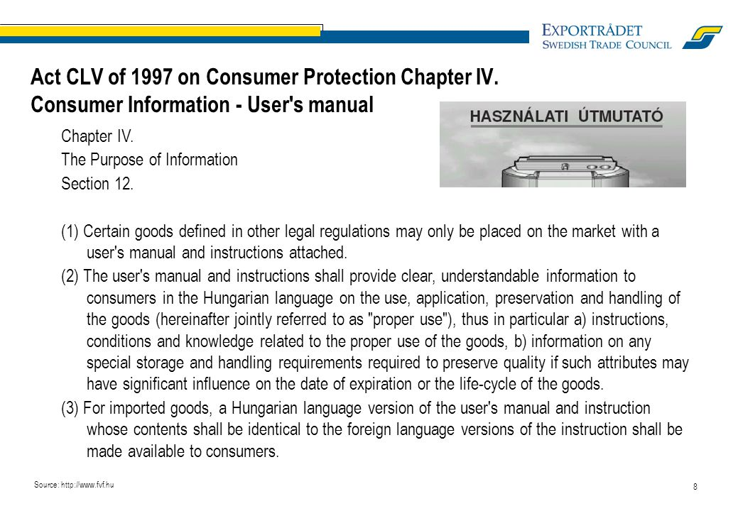 8 Chapter IV. The Purpose of Information Section 12.