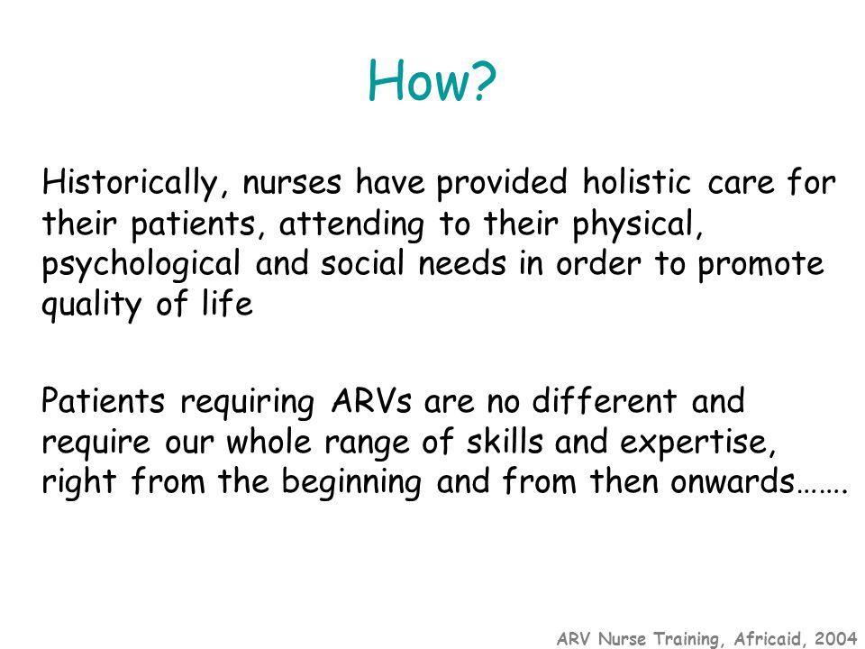 ARV Nurse Training, Africaid, 2004 How.