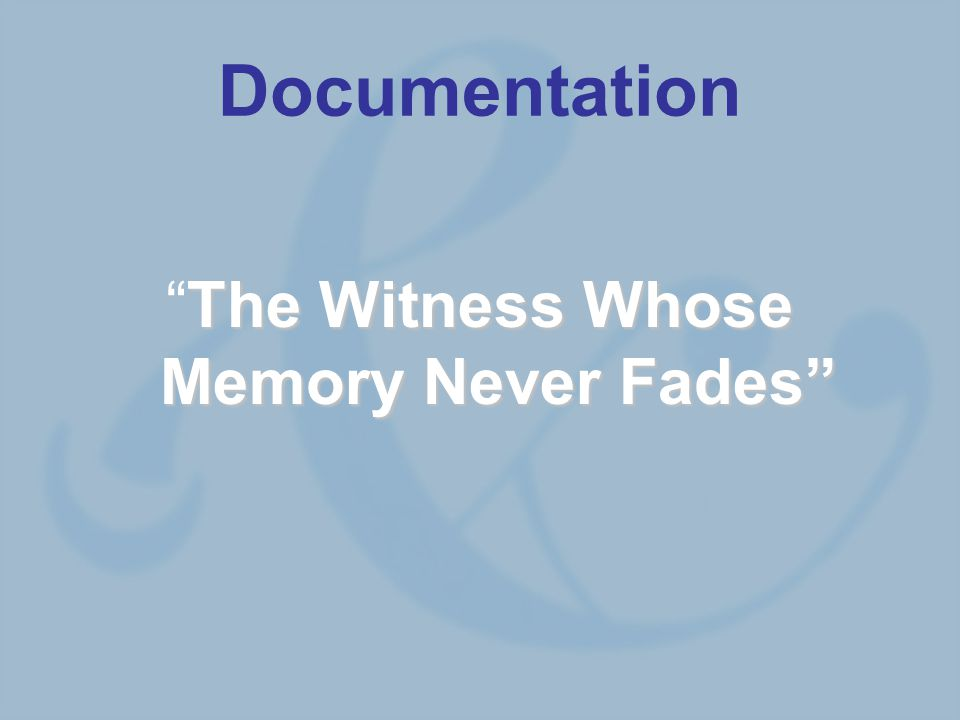Documentation The Witness Whose Memory Never Fades The Witness Whose Memory Never Fades