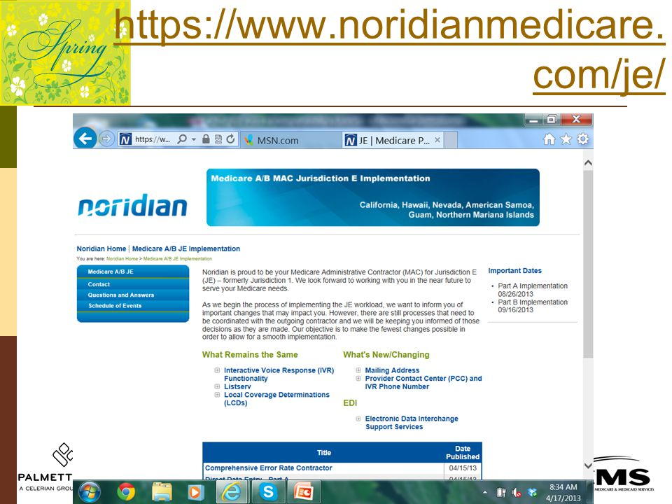 https://www.noridianmedicare. com/je/