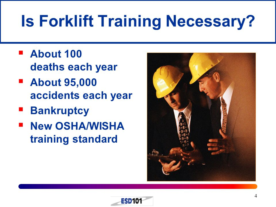 3 WISHA Forklift Safety Guide  The Washington State Forklift Safety Guide can be downloaded at: http://www.lni.wa.gov/wisha/employees/ http://www.lni.wa.gov/wisha/employees/ employers/Forklift_Safety_Guide.pdf  This is a very important manual for every school district that owns a forklift.