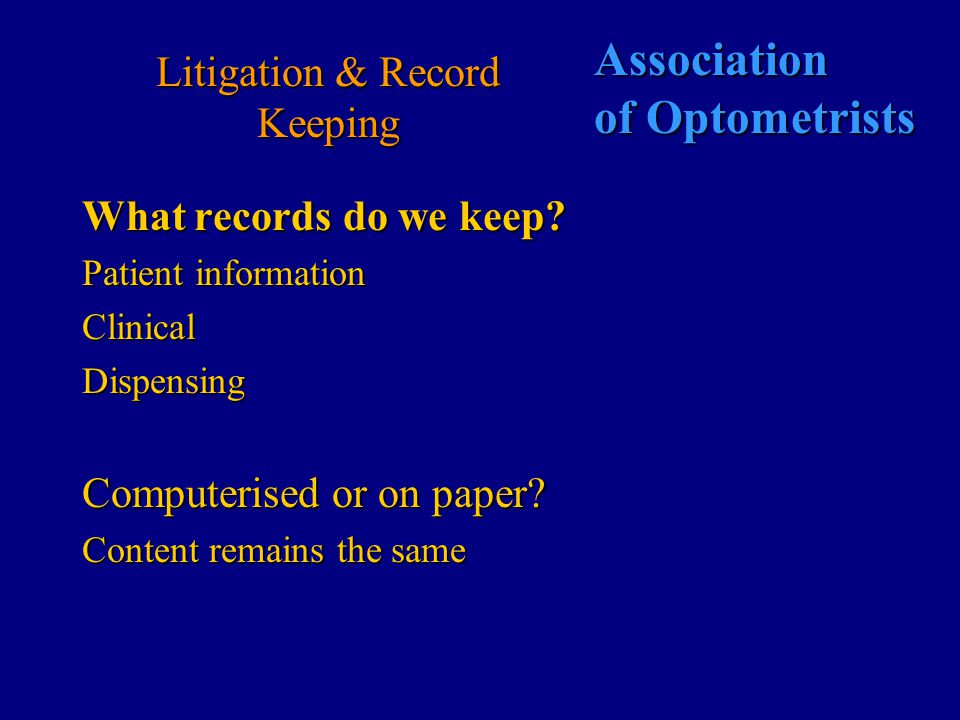 Association of Optometrists Defending the Optometrist PCO's GOC PCO's GOC PCO Tribunal NHS (fraud) GOC PCO Tribunal NHS (fraud) GOC Local Local resolution Crown Court Healthcare Commission FHSAA GOC FHSAA GOC