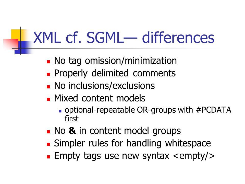 XML cf.