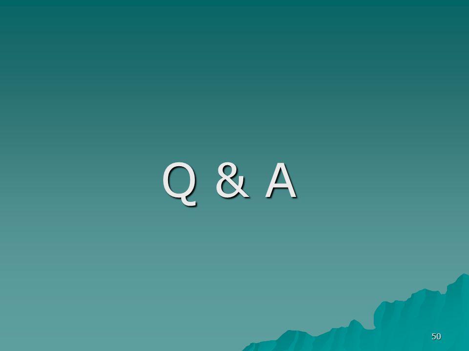 50 Q & A Q & A