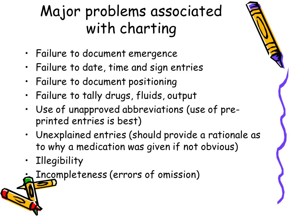 Other problem areas associated with charting… Mechanical ventilation Antibiotic administration (particularly pre-incision timing) Provider changeovers 7 TEFRA requirements Unexplained gaps Inclusion of pt ID and time outs Erasures, gaps, and alterations to the record (these raise inferences of errors, inattention, and falsification of data)